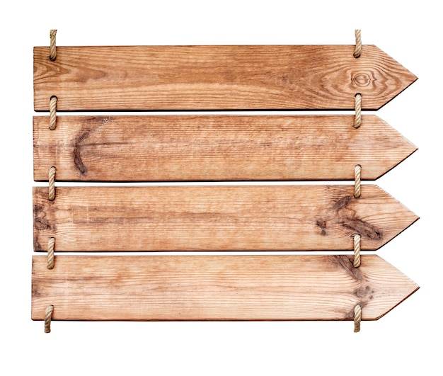 Drewniany Znak Na Białym Tle Premium Zdjęcia