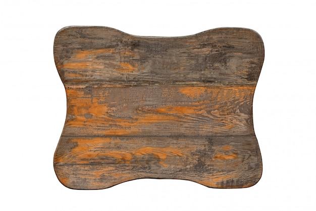 Drewniany znak retro na białym tle. odrapany znak vintage