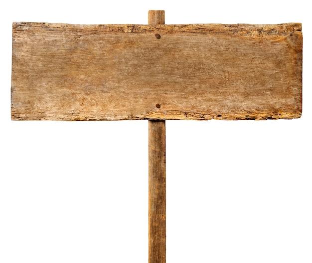 Drewniany znak.