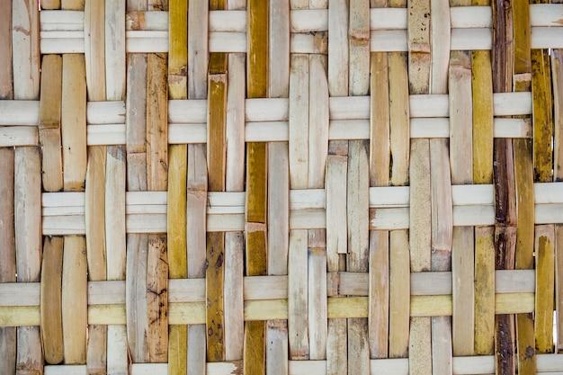 Drewno bambusowe wyplata ręcznie robioną teksturę