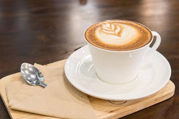 Drewno napój espresso tło drewniany