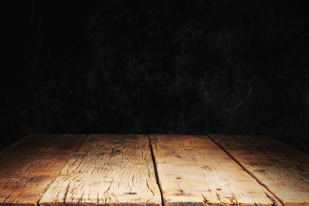 Drewno z czarnym kamiennym stołem tekstury betonu
