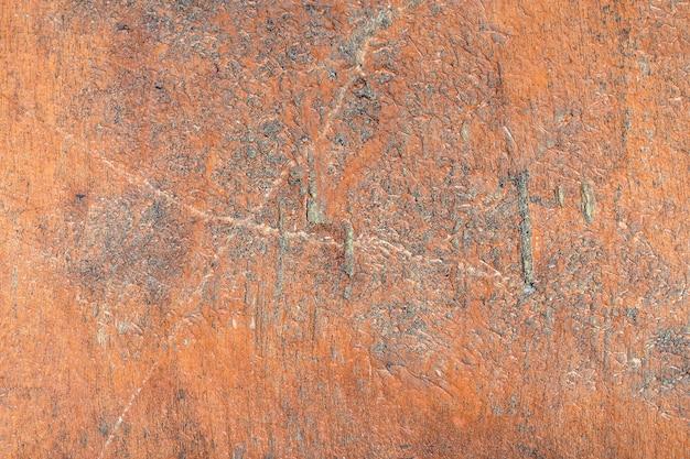 Drewno z łuszczącą się farbą, obraz w tle