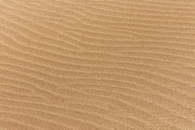 Drobny piasek na plaży z falami