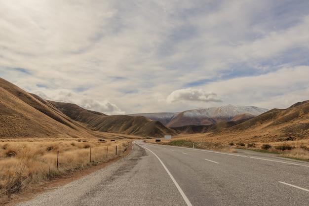 Droga do lodowca fox, nowa zelandia.