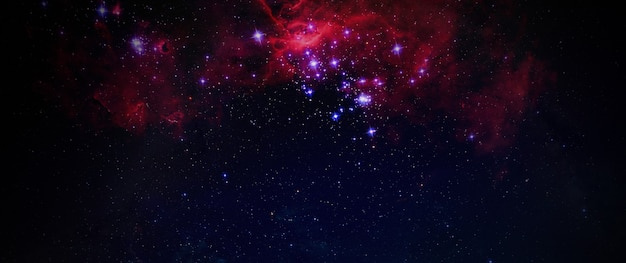 Droga mleczna abstrakcyjna tapeta w tle galaktyki drogi mlecznej, sztuka artysty, widok z obserwatorium, szeroki baner. elementy tego zdjęcia dostarczone przez nasa