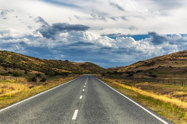 Droga na wsi otago, nowa zelandia