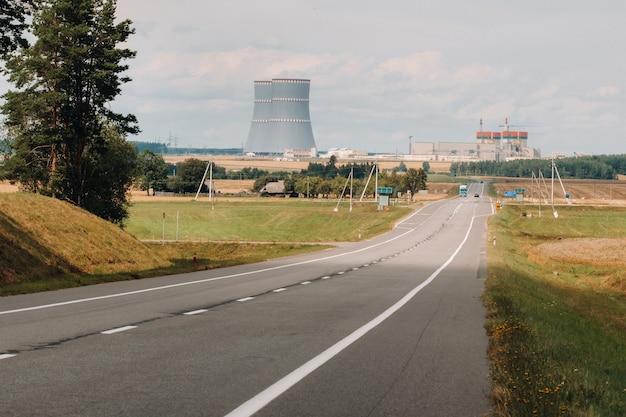 Droga prowadząca do elektrowni atomowej w powiecie ostrowiec