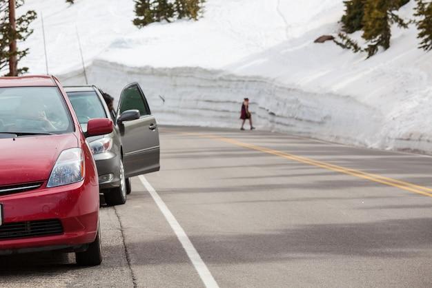 Droga ściany śniegu
