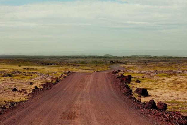 Droga szutrowa na islandii