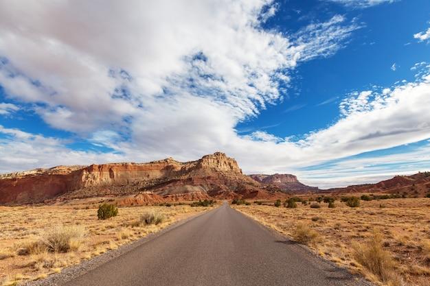 Droga W Kraju Prerii Premium Zdjęcia