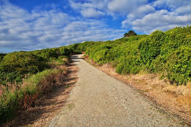 Droga wzgórze zachodnie wybrzeże, nowa zelandia