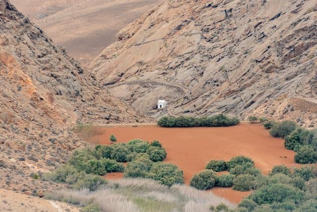 Droga z bentacorii do pajary na wyspie fuerteventura w hiszpanii