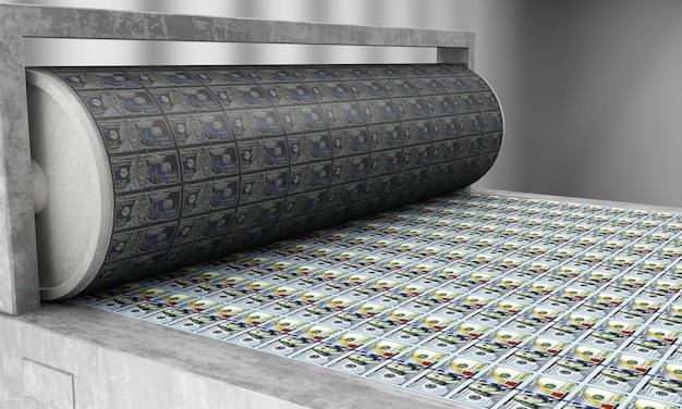 Drukowanie pieniędzy nowe 100-dolarowe banknoty