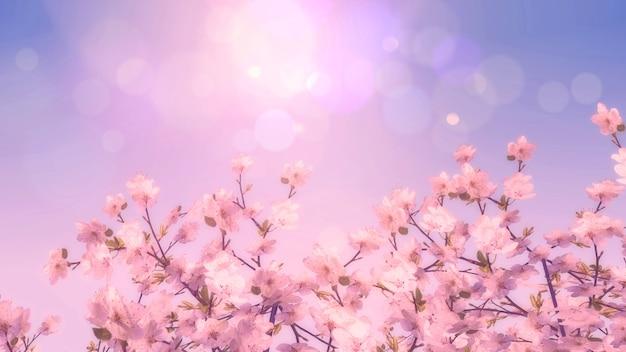 Drzewo kwitnącej wiśni