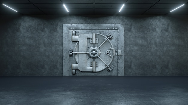 Drzwi krypty w banku