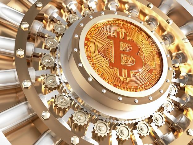Drzwi skarbca bitcoin