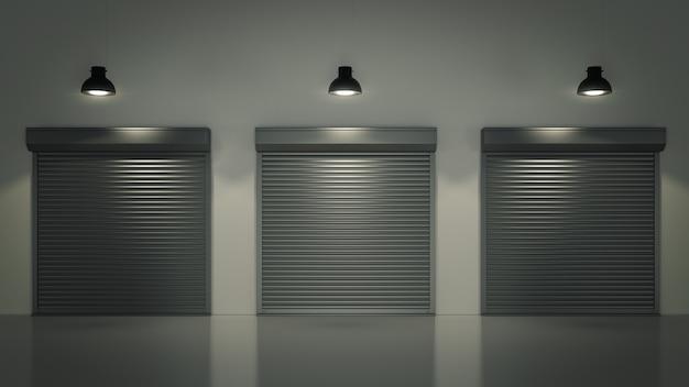 Drzwi żaluzjowe lub drzwi rolowane