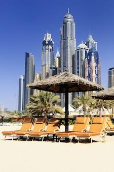 Dubaj, dzielnica marina w zjednoczonych emiratach arabskich
