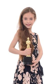Dumna dziewczyna z trofeum