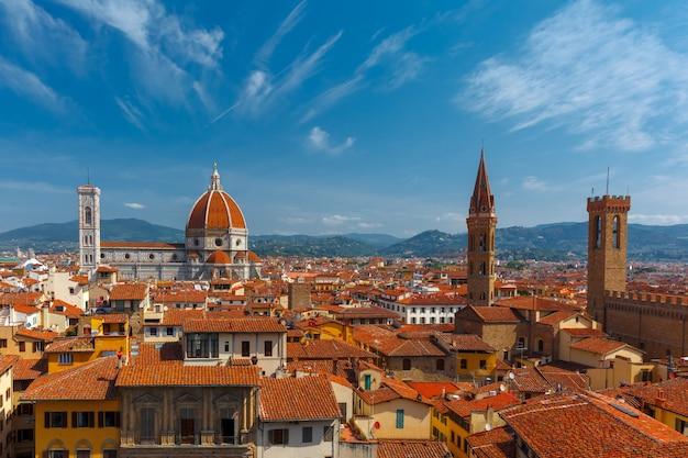Duomo i bargello we florencji we włoszech