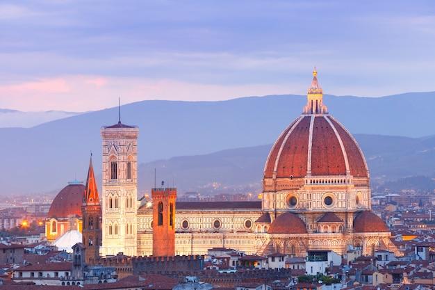 Duomo santa maria del fiore we florencji we włoszech
