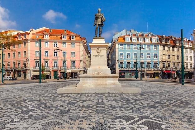 Duque da terceira square w lizbonie, portugalia