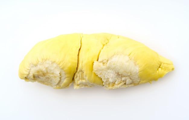 Durian król owoców na białym tle.