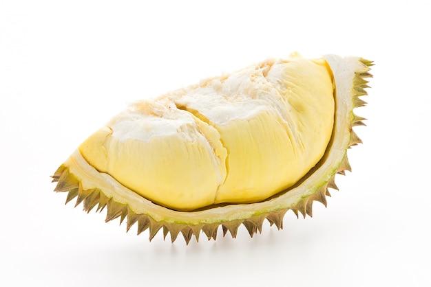 Durian owoców na białym tle