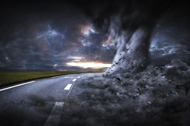 Duża katastrofa tornado