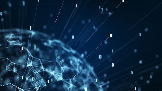 Duża koncepcja centrum danych.