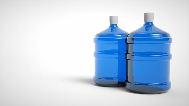 Duża plastikowa butelka woda pitna odizolowywająca na białym tle. renderowanie 3d.
