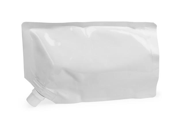 Duża pusta plastikowa saszetka na sos, majonez, ketchup, napój, żywność dla niemowląt lub kosmetyk