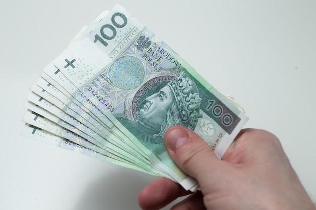 Dużo polskich pieniędzy z bliska