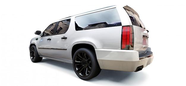 Duży biały samochód premium suv