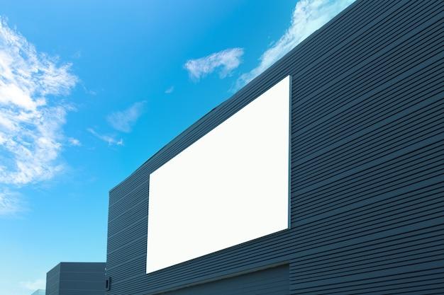Duży billboard na ścianie budynku, makieta