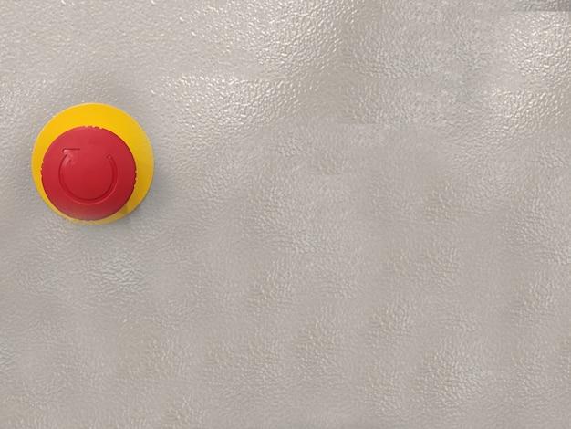 Duży czerwony przycisk na ścianie