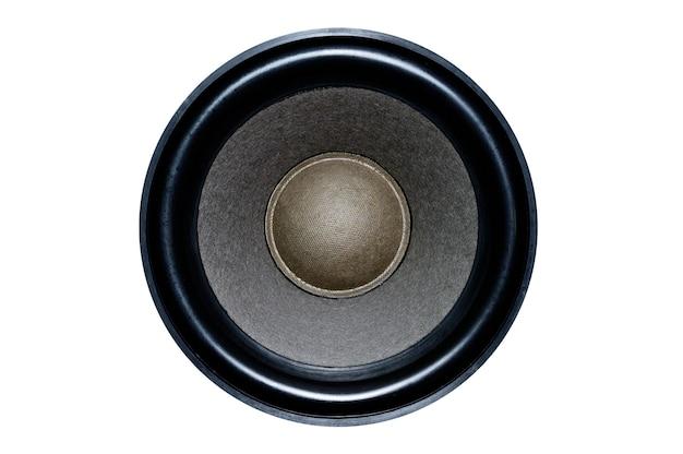 Duży głośnik z głośników na białym tle do prac projektowych