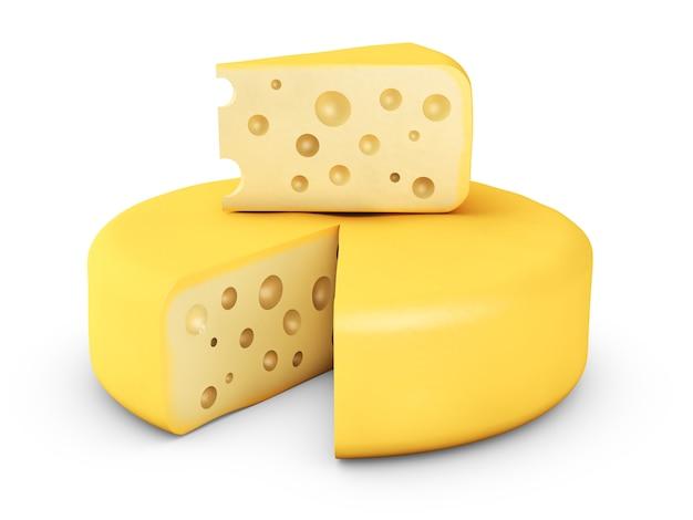 Duży kawałek twardego sera