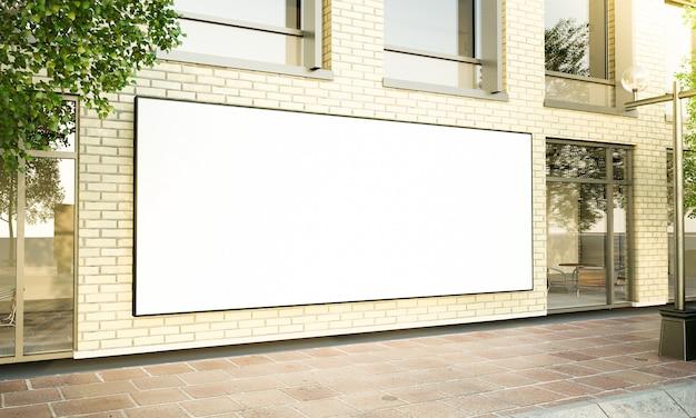 Duży poziomy plakat na ulicy
