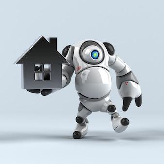 Duży robot - ilustracja 3d