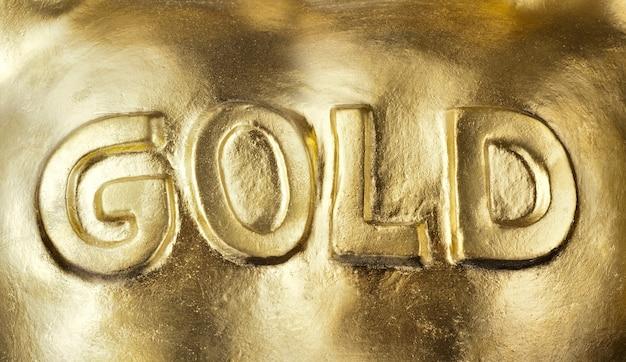Duży sztab złota. tło lub tekstura