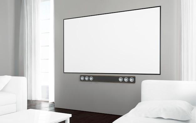 Duży telewizor z pustym ekranem