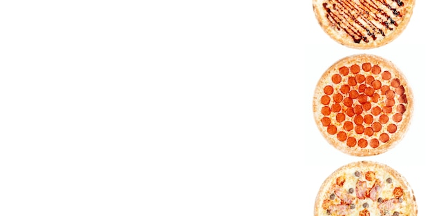 Duży zestaw różnych pizzy
