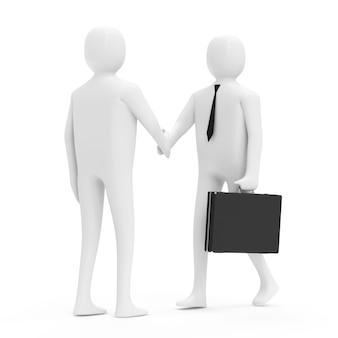 Dwa biznesmenów, drżenie rąk