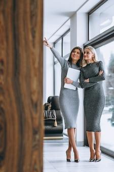 Dwa biznesowa kobieta z komputerem