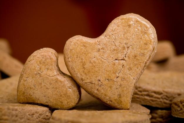 Dwa ciasteczka w kształcie serca