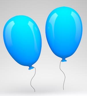 Dwa niebieskie balony