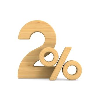Dwa procent na białym