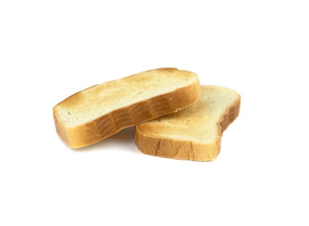 Dwie kromki białego chleba ugotowane w tosterze